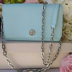 Tory Burch Robinson Wallet-On-Chain-Gently Used!
